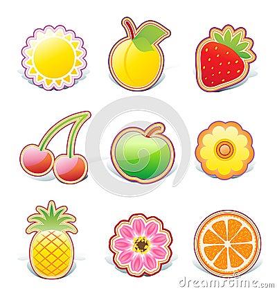 Fruity design elements