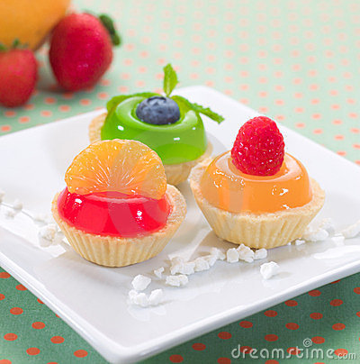 Fruity jelly cupcake