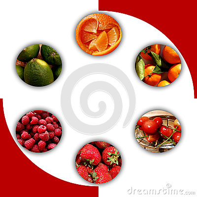 Free Fruity Textures Inside Six Circles Royalty Free Stock Photos - 86830248