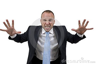 Frustated businessman