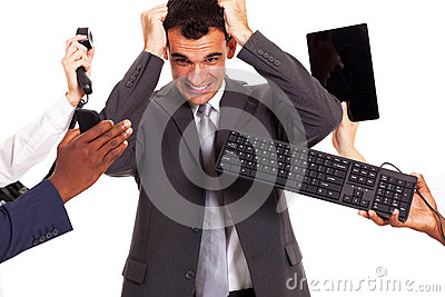 Frustrated businessman