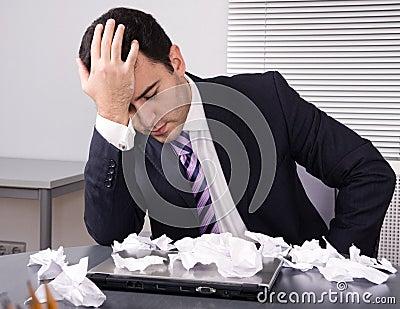 Frustrated businessman