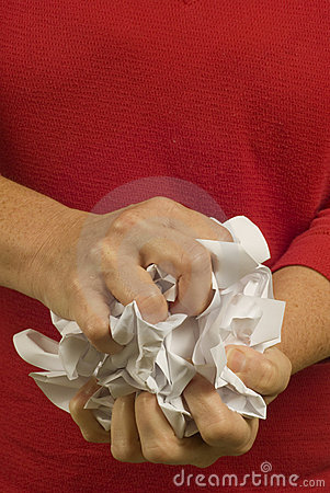 Frustrated Crumpling of Paper