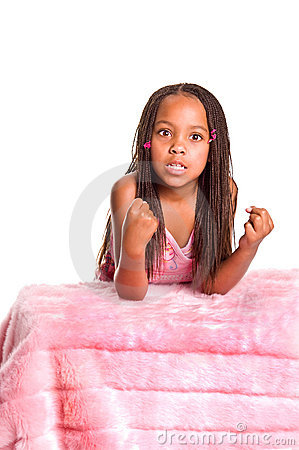 Frustrated Little Girl With Braids