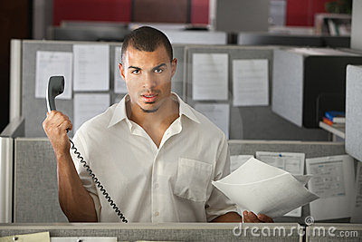 Frustrated Office Worker Stock Photo