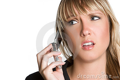 Frustrated Phone Woman