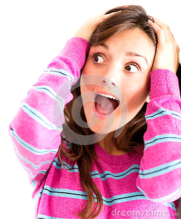 Frustrated woman screaming