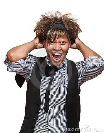 Free Frustrated Young African Woman Royalty Free Stock Photo - 20862915
