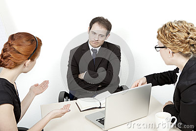 Frustrating business meeting