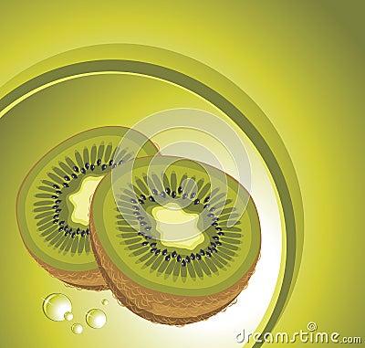 Fruta de kiwi madura