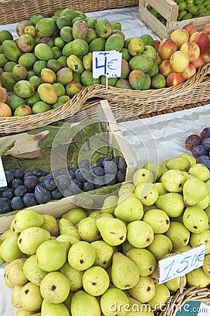 Fruta para la venta