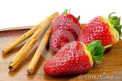 Frutas frescas e canela