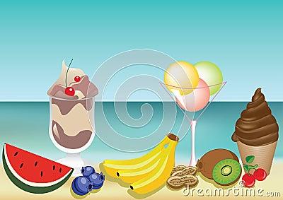 Frutas sabrosas del verano