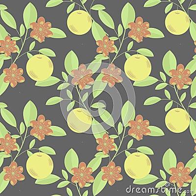 Fruto e flores