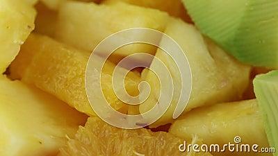Fruto misturado da salada de fruto filme