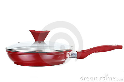 Fry pan with ceramic non-stick coating