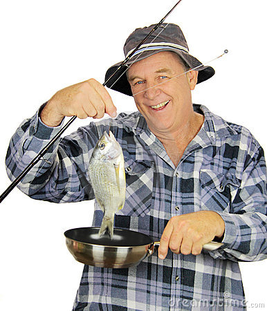 Fry Pan Fisherman