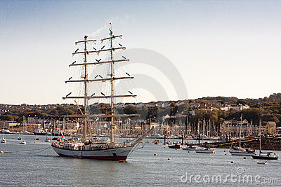 Fryderyk Chopin Tall Ship Rescued Editorial Photography