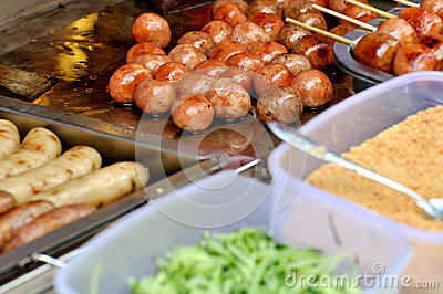 Frying meat ball