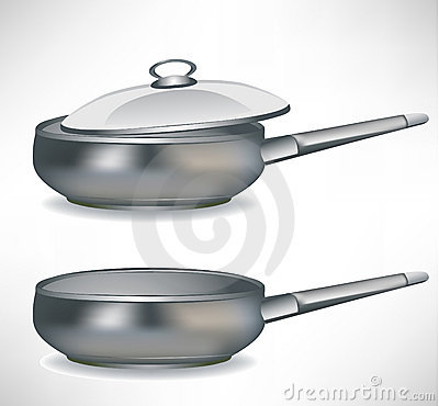 Frying pan with/without cap