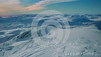 Fryst och frostigt oändligt kallt antarktiskt vackert snöhorisont arkivfilmer