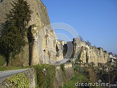 Fästning medeltida luxembourg