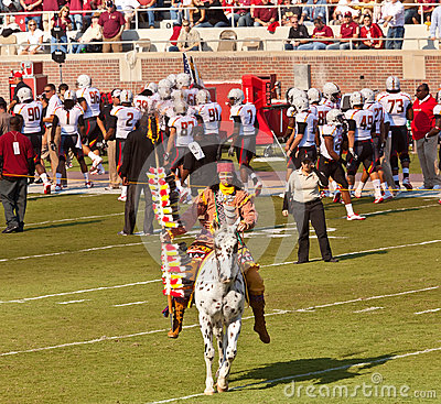FSU s Chief Osceola Riding Renegade Editorial Stock Image