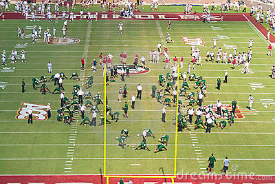 FSU and USF Football Teams Warm Up Editorial Image
