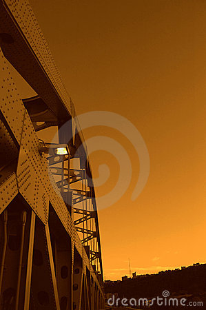 Free Ft. Duquesne Bridge At Sunset Royalty Free Stock Photo - 8791575