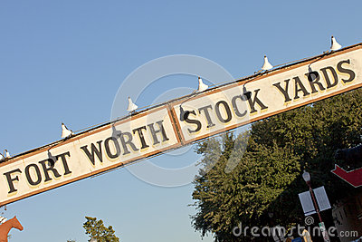 Ft Worth Stock Yards Sign Editorial Photo