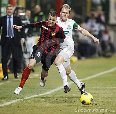FTC vs. Budapest-Honved Hungarian OTP BANK League Editorial Stock Photo
