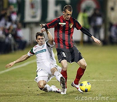 FTC vs. Budapest-Honved Hungarian OTP BANK League Editorial Photography