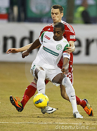 FTC vs. DVSC-TEVA Hungarian football game Editorial Image
