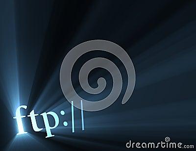 Ftp internet hyper link sign light halo