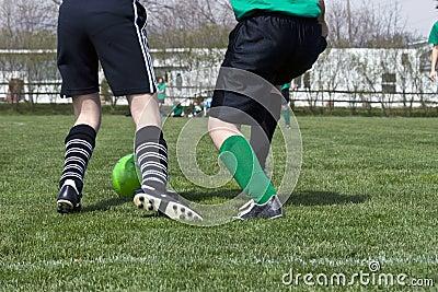 Fußball-Fuß-Aktion