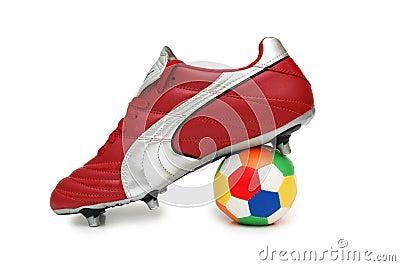Fußballmatte und -kugel