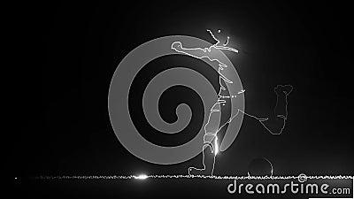 Fußballspieler Original-Sportserie Abstraktes klassisches Fußballposter vektor abbildung