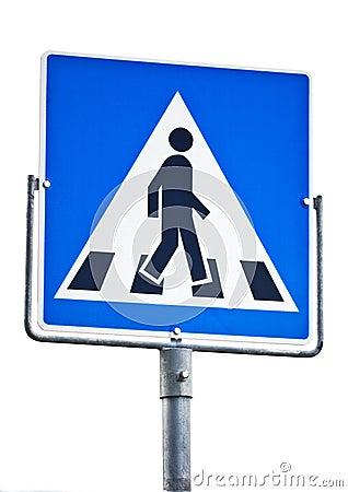 Fußgängerübergangzeichen
