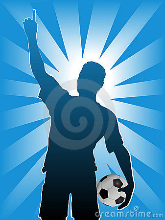 Fußball-Fußball-Spieler-Kugel