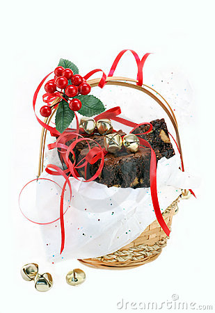 Fudge brownies in gift basket