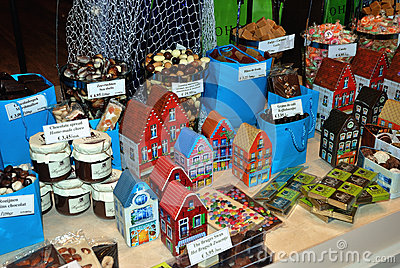 Fudge and other sweeties in a shop Editorial Stock Image