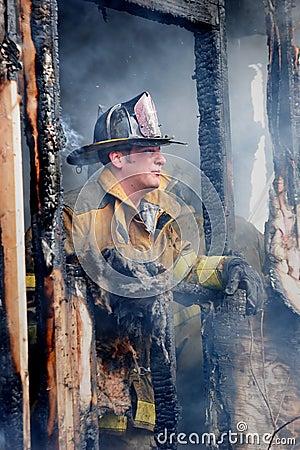 Fuego de la casa Imagen editorial