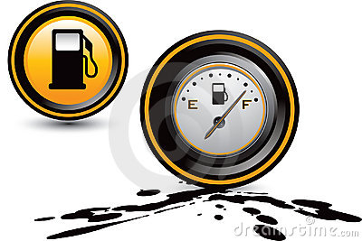 Fuel pump and gas gauge on oil