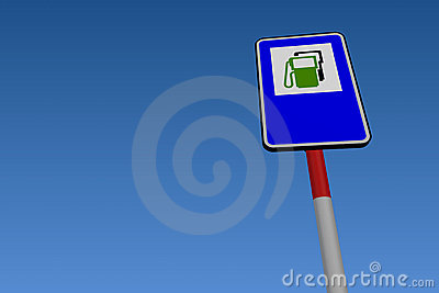 Fuel Pump Road Sign