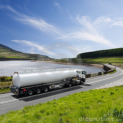 Free Fuel Truck Driving On Highway Stock Photos - 16196813