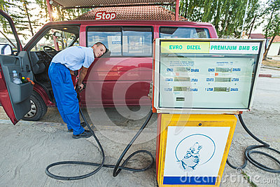 Fuelling service Editorial Stock Image
