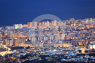 Fuengirola at night, Spain