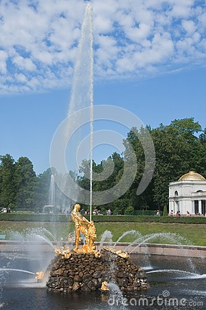 Fuente de Samson, Pertergof, St Petersburg