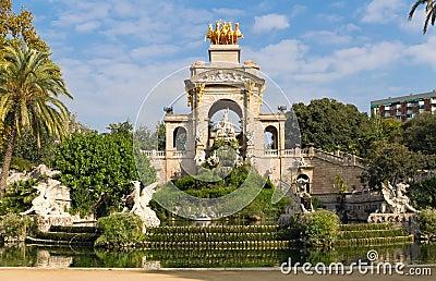 Fuente en Parc de la Ciutadella, Barcelona