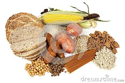 Fuentes complejas de la comida de los carbohidratos